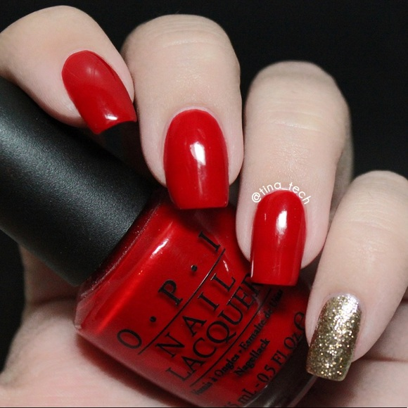 Opi Makeup Nail Big Apple Red Bright Red Color Poshmark